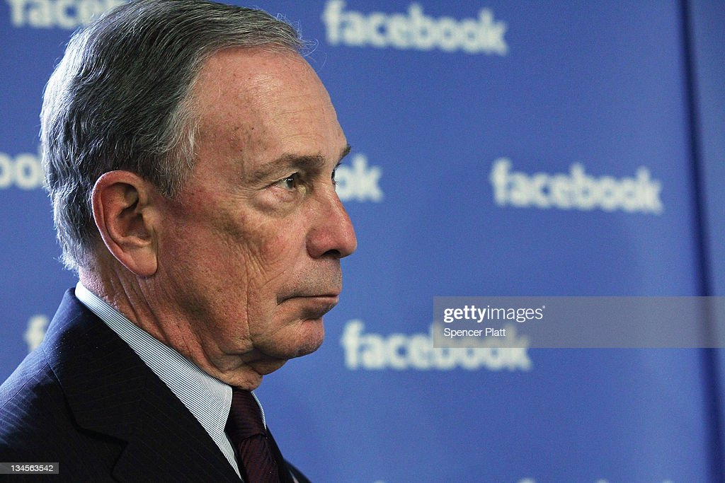 New York City Mayor <a gi-track='captionPersonalityLinkClicked' href=/galleries/search?phrase=Michael+Bloomberg&family=editorial&specificpeople=171685 ng-click='$event.stopPropagation()'>Michael Bloomberg</a> tours New York's Facebook headquarters on December 2, 2011 in New York City. Bloomberg and Schumer announced that Facebook will be opening a center for engineers in New York City in 2012. Facebook, the world's largest social networking company, is expected to file for an IPO in April, and a public offering could reach a valuation of up to $100 billion and raise $10 billion.