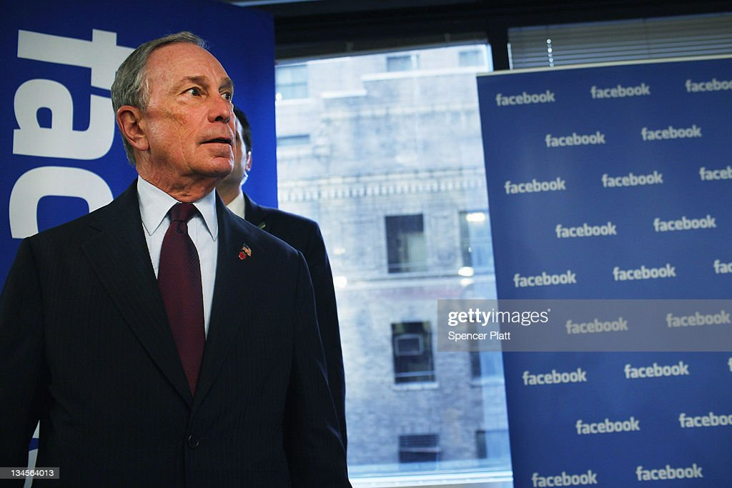 New York City Mayor <a gi-track='captionPersonalityLinkClicked' href=/galleries/search?phrase=Michael+Bloomberg&family=editorial&specificpeople=171685 ng-click='$event.stopPropagation()'>Michael Bloomberg</a> tours New York's Facebook headquarters on December 2, 2011 in New York City. Bloomberg announced that Facebook will be opening a center for engineers in New York City in 2012. Facebook, the world's largest social networking company, is expected to file for an IPO in April, and a public offering could reach a valuation of up to $100 billion and raise $10 billion.