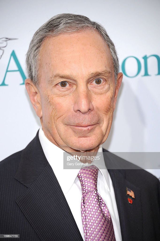 New York City mayor Michael R. Bloomberg attends the 2013 National Audubon Society Gala Dinner at The Plaza Hotel on January 17, 2013 in New York City.