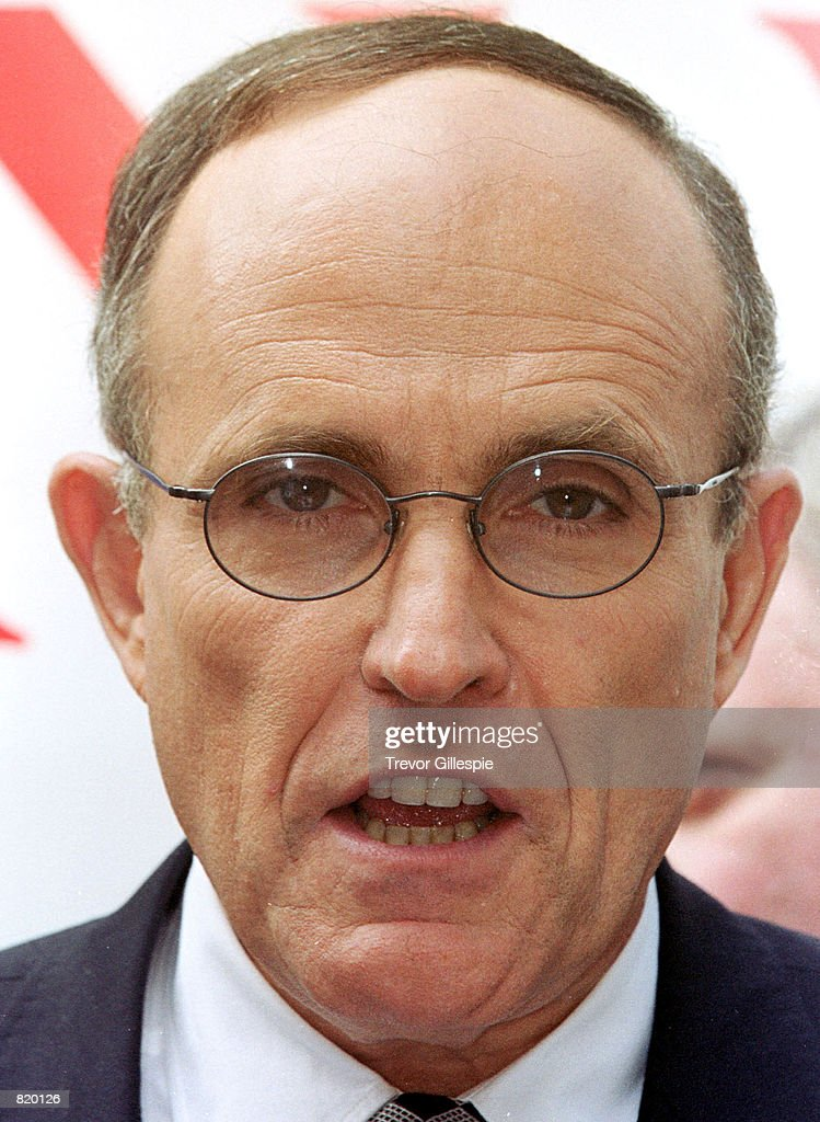 New York City Mayor Rudy Giuliani responds to reporters questions during his daily press conference in New York on September 27 1999 Giuliani touched...