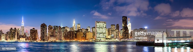 New York City Midtown Panorama at Dusk
