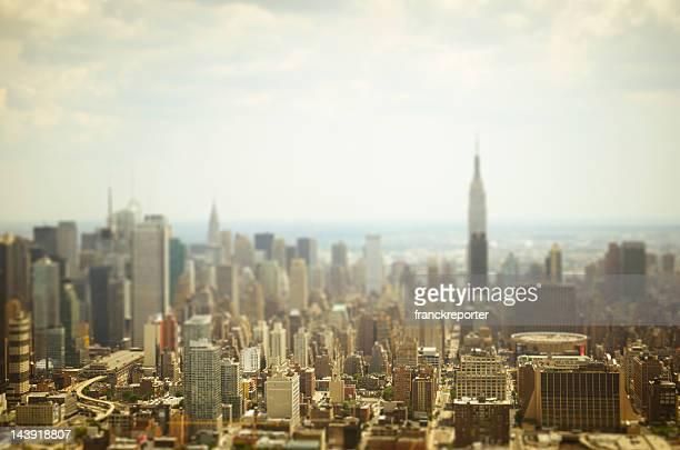 La ville de New York depuis un hélicoptère ville miniature