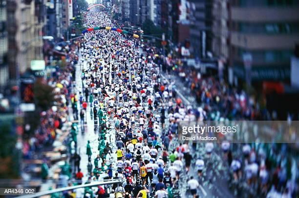 USA, New York City, New York City Marathon on First Avenue