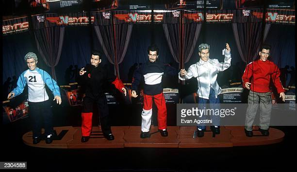 New York City 'NSYNC' unveils their new lookalike marionette dolls at FAO Schwarz toy store 'NSYNC' Lookalike marionette dolls produced by 'Living...