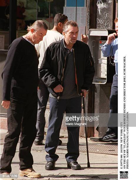 New York City On The Set Of 'Flawless' With Robert Deniro And Director Joel Schumacher