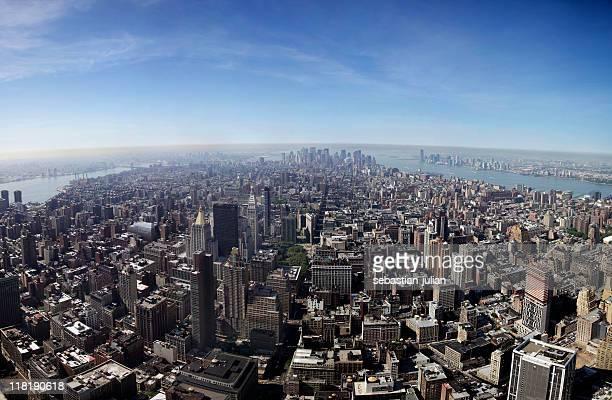 ニューヨークシティのダウンタウンのパノラマに広がる rfc