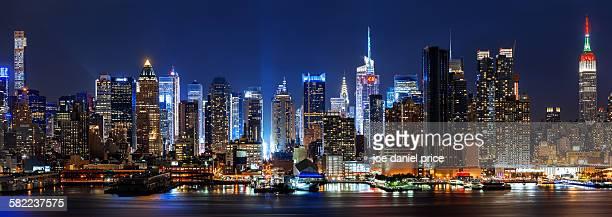 New York City, Panorama Skyline, New York, America