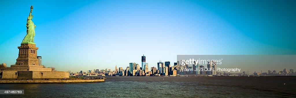 New York City panorama view