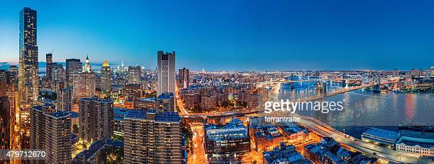New York City Panoramic Aerial View at Dusk