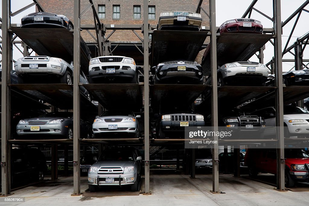 A new york city parking garage on the far west side of for Ny city parking garages