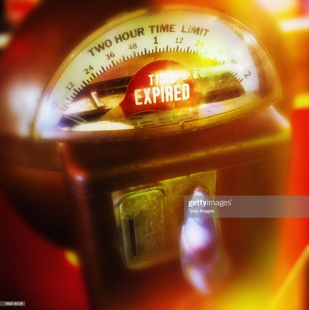 USA, New York City, Parking meter