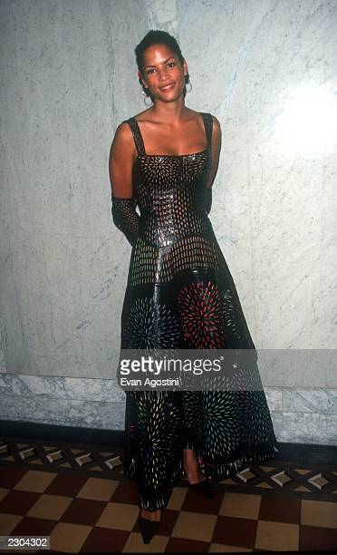 New York City Party for the opening of a fashion exhibition for designer Azzedine Alaia Model Veronica Webb Photo by Evan Agostini/ImageDirect