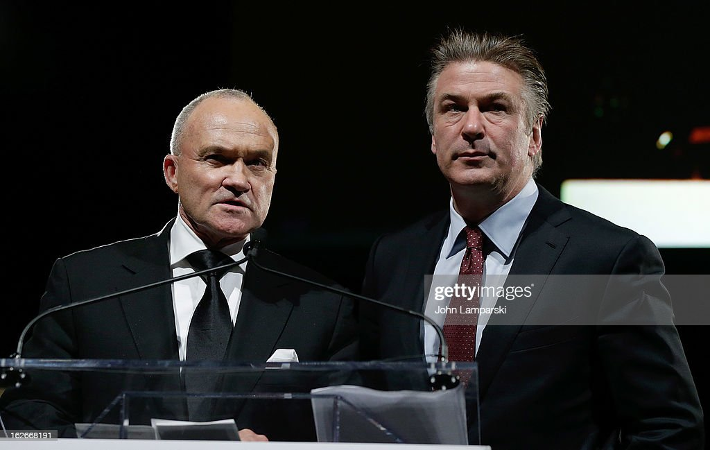 New York City Police Comissioner Raymond W. Kelly and <a gi-track='captionPersonalityLinkClicked' href=/galleries/search?phrase=Alec+Baldwin&family=editorial&specificpeople=202864 ng-click='$event.stopPropagation()'>Alec Baldwin</a> attend the 2013 New Yorker For New York Gala at Gotham Hall on February 25, 2013 in New York City.