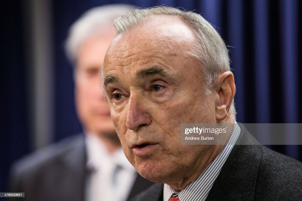 New York City Police Commissioner Bill Bratton speaks at a press conference introducing new legislation that would require smartphone manufacturers to create a 'kill switch' for people to deactivate their phones if they are stolen, on March 3, 2014 in New York City. The bill is being introduced by U.S. Rep. Jose E. Serrano (D-NY) with the support of New York State Attorney General Eric T. Schneiderman.