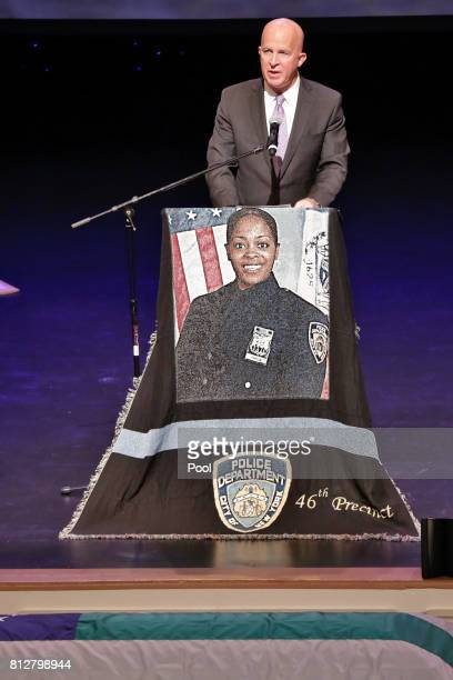 New York City Police Commissioner James O'Neill speaks during the funeral for New York City Police Officer Miosotis Familia at the World Changers...