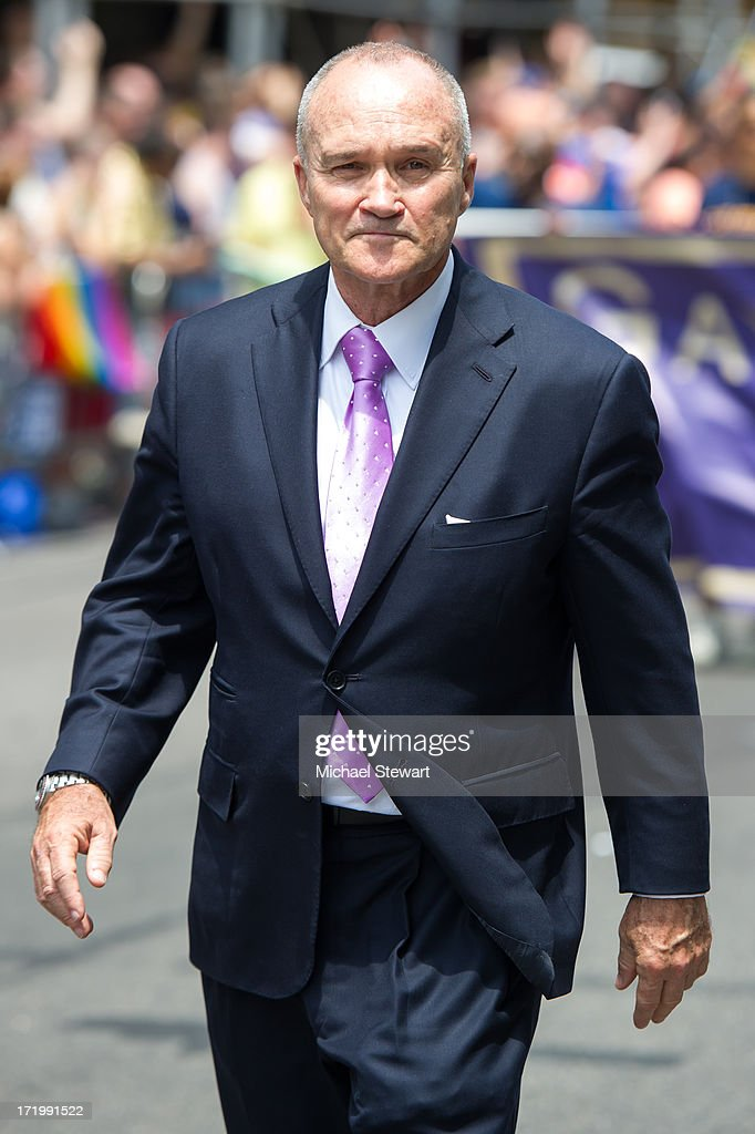 New York City Police Commissioner Ray Kelly attends The March during NYC Pride 2013 on June 30, 2013 in New York City.
