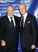 New York City Police Commissioner Raymond W Kelly and actor Michael Douglas attends the 33rd Annual Police Foundation gala at The Waldorf=Astoria on...