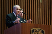 New York City Police Department Commissioner Raymond Kelly speaks to religious leaders from the area Jewish community during the NYPD's annual...