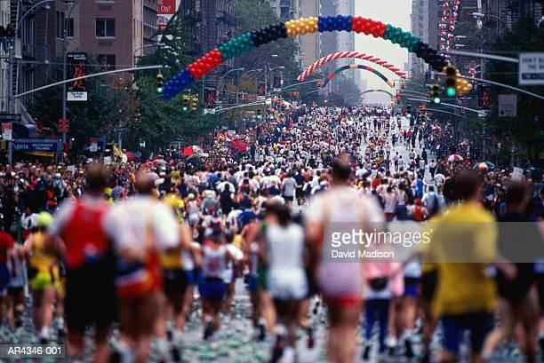 USA, New York City, runners in New York City Marathon [1997]
