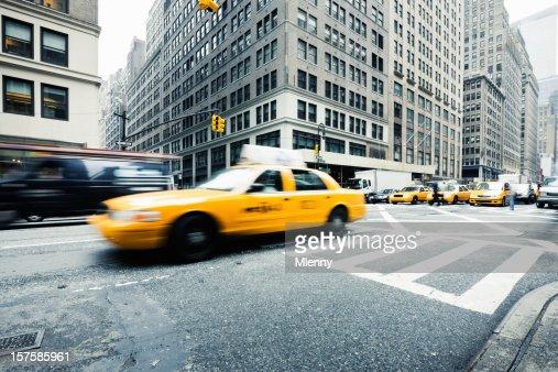 New York City Rush Hour Yellow Cabs