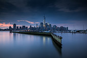New York City skyline across the Hudson
