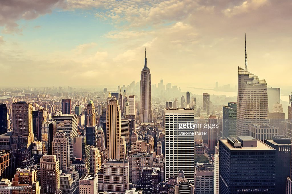 new york city skyline empire state building stock photo. Black Bedroom Furniture Sets. Home Design Ideas