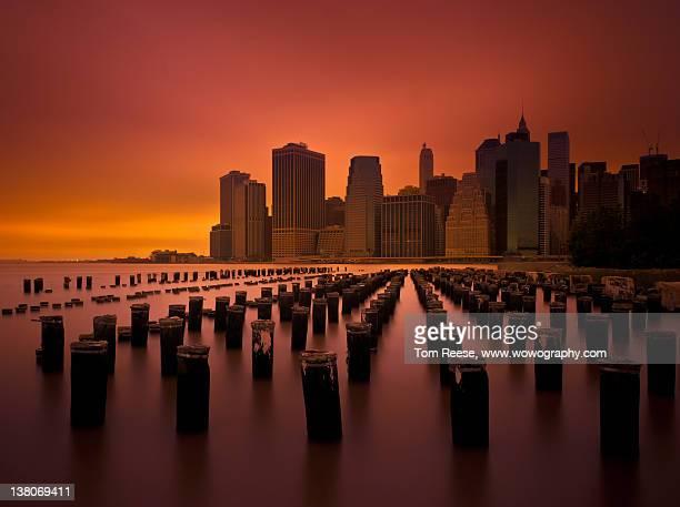 New York city skyline from Pier, Brooklyn
