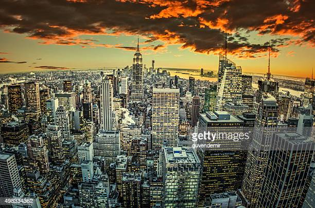 La ville de New York-Midtown et de l'Empire State Building