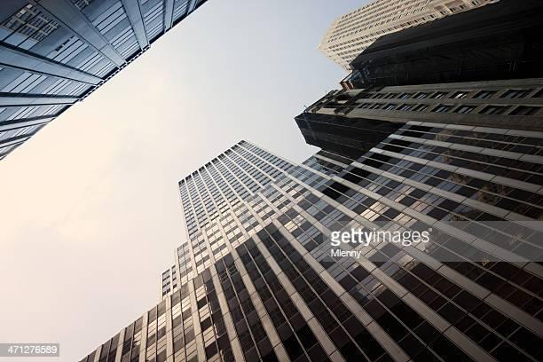 New York City Manhattan Wolkenkratzer in finanziellen Bezirk
