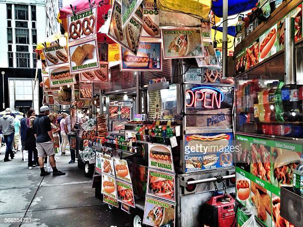 New York City street food vendors line the sidewalks Best of the Month