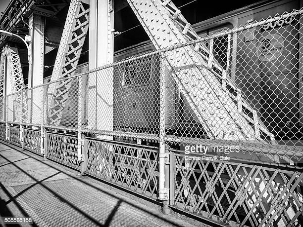 New York City Subway train on Manhattan Bridge