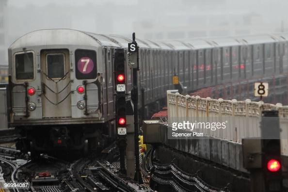 New York City Subway train pulls away from a station on February 23 2010 in New York City Najibullah Zazi a former airport shuttle driver pleaded...