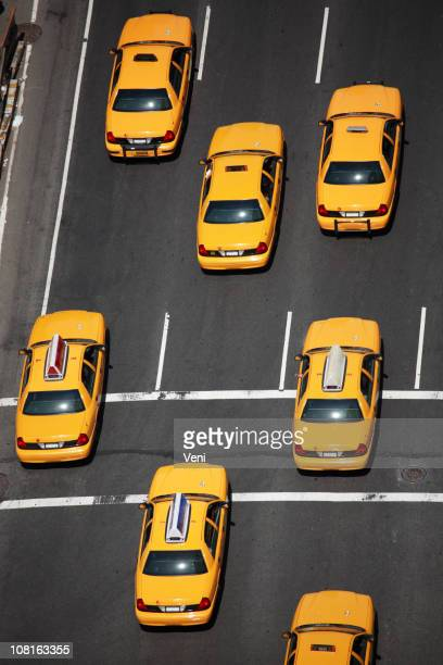 New York City Taxis - aerial