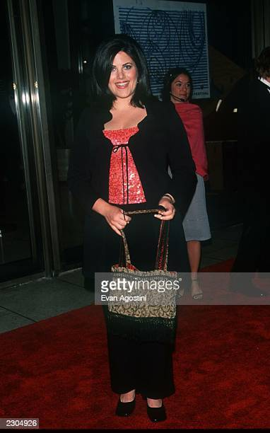 New York City The 28th Annual 'FiFi' Fragrance Awards at Avery Fisher Hall Monica Lewinsky showsoff one of her own designer handbags Photo by Evan...