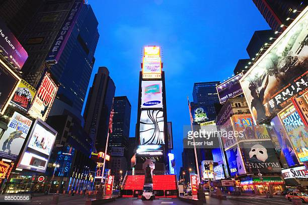 New York City, Times Square at dusk