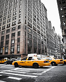 New York City Traffic Yellow Cabs