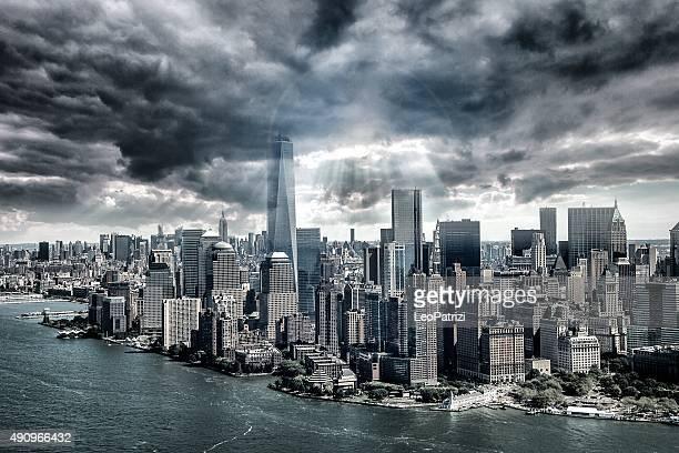 New York City under the storm