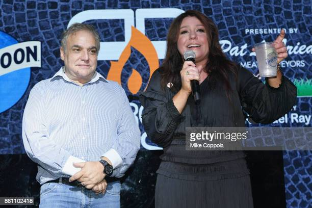 New York City Wine Food Festival Founder Executive Director Lee Brian Schrager and host Rachael Ray on stage at the Food Network Cooking Channel New...