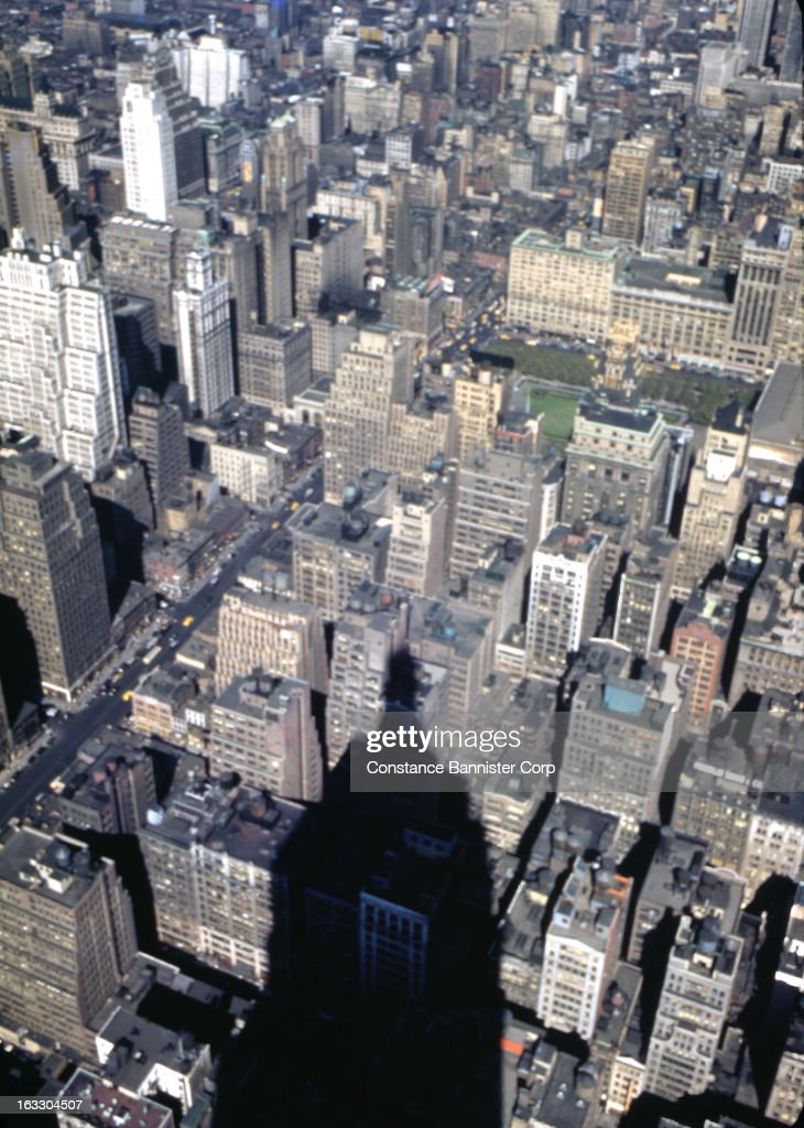 New York City with the shadow of the Empire State Building, USA.