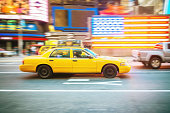 New York City Yello Cab Times Square