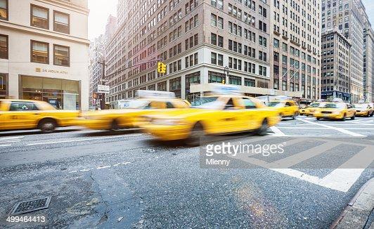 New York City Yellow Cabs during Rush Hour