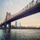 New York cityscape with Queensboro Bridge, USA