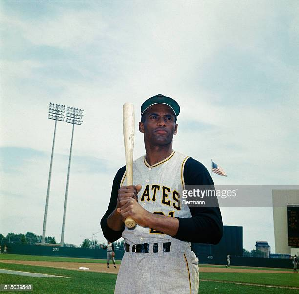 Closeup of Roberto Clemente Pittsburgh Pirates outfielder June 27th