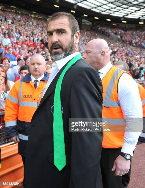 New York Cosmos manager Eric Cantona during the Paul Scholes Testimonial match at Old Trafford Manchester