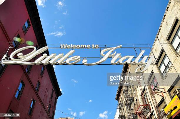 USA, New York, detail of neon signs in Little Italy