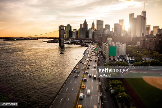 New York Downtown skyline - Aerial View