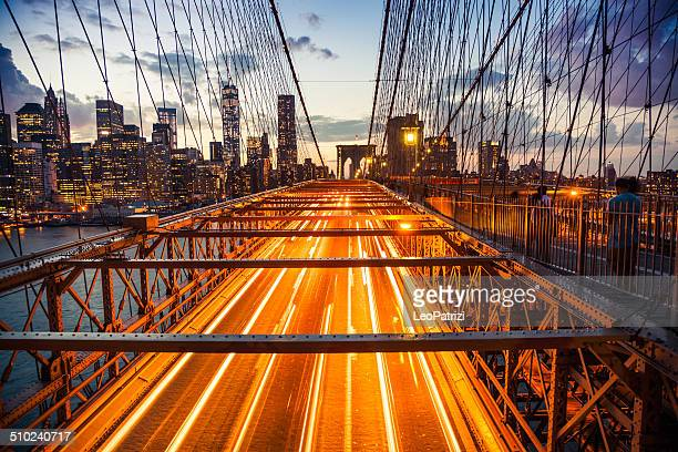 Le centre-ville de New York, du pont de Brooklyn
