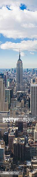New York dramatic vertical skyscraper panorama XXXL