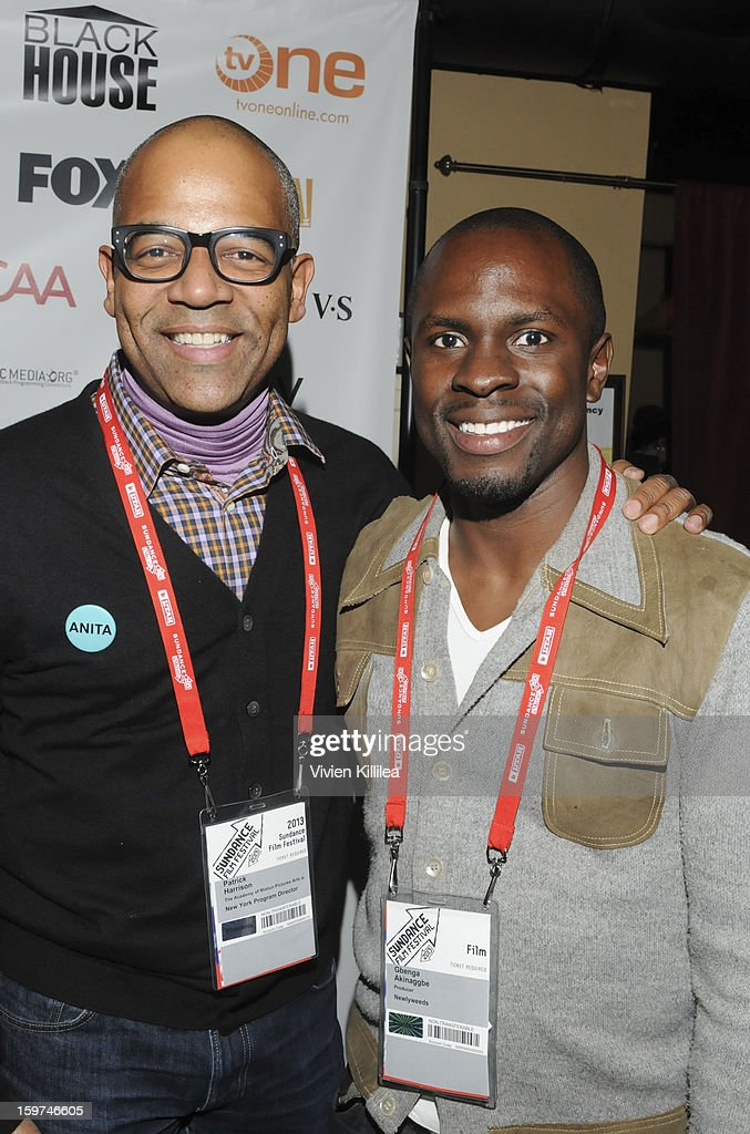New York Events Director for the Academy of Motion Picture Arts and Sciences Patrick Harrison and actor Gbenga Akinnagbe attends the Academy Conversation With Will Packer At Sundance Film Festival - 2013 Park City on January 19, 2013 in Park City, Utah.