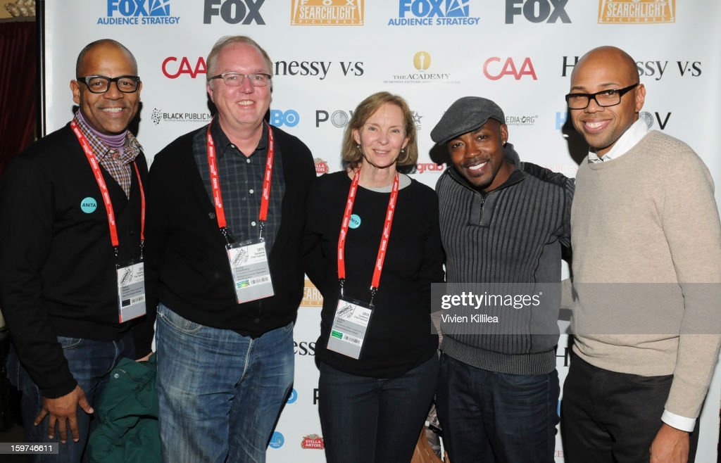 New York Events Director for the Academy of Motion Picture Arts and Sciences Patrick Harrison, Managing director, Education and Programs for the Academy of Motion Picture Arts and Sciences Randy Haberkamp, Awards Department Head for the Academy of Motion Picture Arts and Sciences Torene Svitil, producer Will Packer and moderator Brickson Diamond attend the Academy Conversation With Will Packer At Sundance Film Festival - 2013 Park City on January 19, 2013 in Park City, Utah.